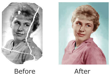 Example of our photo restoration.